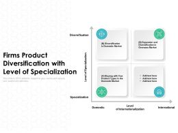 Firms Product Diversification With Level Of Specialization