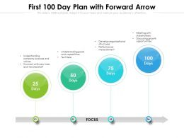 First 100 Day Plan With Forward Arrow