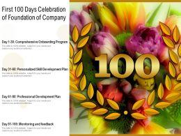 First 100 Days Celebration Of Foundation Of Company
