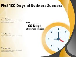 First 100 Days Of Business Success