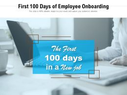 First 100 Days Of Employee Onboarding