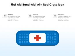 First Aid Bandaid With Red Cross Icon