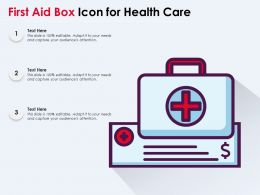 First Aid Box Icon For Health Care