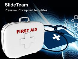 First Aid Box Medical Symbol PowerPoint Templates PPT Themes And Graphics 0513