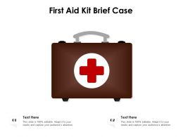 First Aid Kit Brief Case
