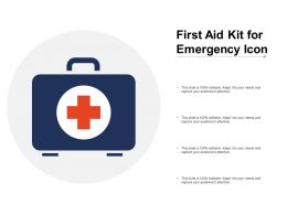 First Aid Kit For Emergency Icon