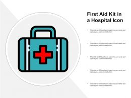 First Aid Kit In A Hospital Icon