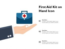First Aid Kit On Hand Icon