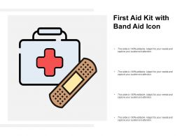 First Aid Kit With Band Aid Icon