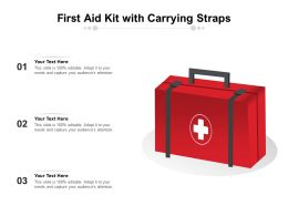 First Aid Kit With Carrying Straps