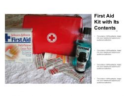 First Aid Kit With Its Contents