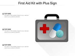 First Aid Kit With Plus Sign