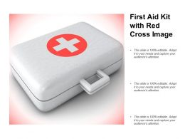 First Aid Kit With Red Cross Image