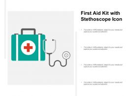 First Aid Kit With Stethoscope Icon