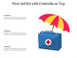 First Aid Kit With Umbrella On Top