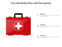 First Aid Medical Box With Plus Symbol