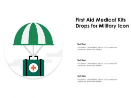 First Aid Medical Kits Drops For Military Icon