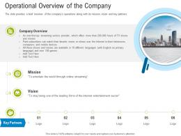 First Funding Round Pitch Deck Operational Overview Of The Company Ppt Powerpoint Brochure