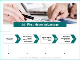 First Mover Advantage Economies Of Scale Ppt Powerpoint Presentation Themes