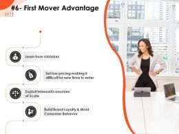 First Mover Advantage New Firms Pricing Ppt Powerpoint Presentation Show Templates