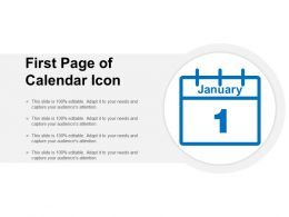 First Page Of Calendar Icon