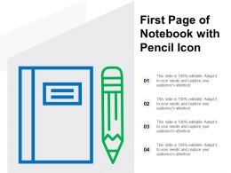 First Page Of Notebook With Pencil Icon