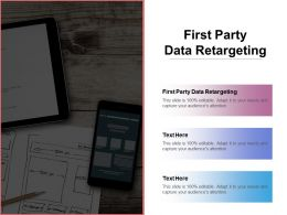 First Party Data Retargeting Ppt Powerpoint Presentation Gallery Summary Cpb