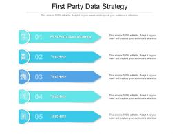 First Party Data Strategy Ppt Powerpoint Presentation Pictures Backgrounds Cpb