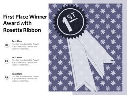 First Place Winner Award With Rosette Ribbon