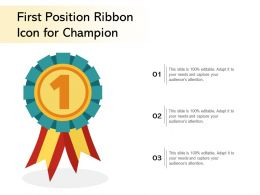 First Position Ribbon Icon For Champion