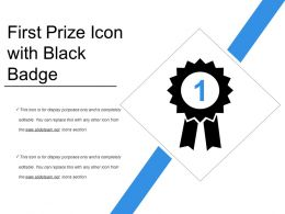 First Prize Icon With Black Badge