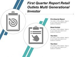 First Quarter Report Retail Outlets Multi Generational Investor Cpb