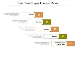 First Time Buyer Interest Rates Ppt Powerpoint Presentation Show Guidelines Cpb