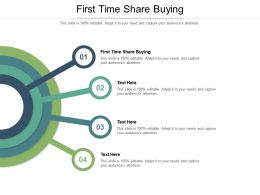 First Time Share Buying Ppt Powerpoint Presentation Infographics Introduction Cpb