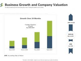 First Venture Capital Funding Business Growth And Company Valuation Ppt Samples