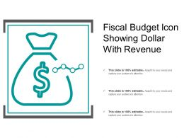 Fiscal Budget Icon Showing Dollar With Revenue