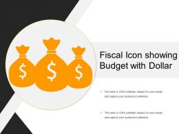 Fiscal Icon Showing Budget With Dollar