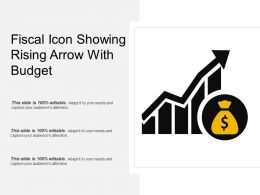 Fiscal Icon Showing Rising Arrow With Budget