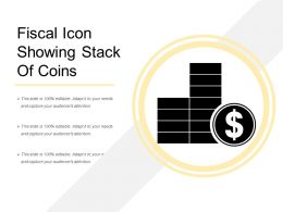 Fiscal Icon Showing Stack Of Coins
