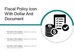 Fiscal Policy Icon With Dollar And Document
