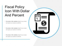 Fiscal Policy Icon With Dollar And Percent
