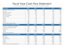 Fiscal Year Cash Flow Statement