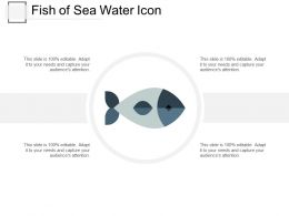 Fish Of Sea Water Icon
