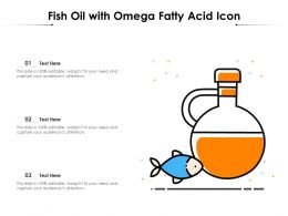 Fish Oil With Omega Fatty Acid Icon