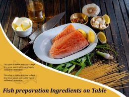 Fish Preparation Ingredients On Table