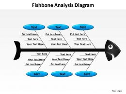 fishbone analysis diagram powerpoint diagram templates graphics 712