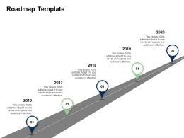 Fishbone Analysis Solving Business Roadmap Template 2016 To 2020 Years Ppts Rules