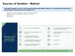 Fishbone Analysis Solving Business Sources Of Variation Method Attitude Worker Ppts Styles