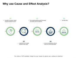 Fishbone Analysis Why Use Cause And Effect Analysis Common Problem Ppt Topics