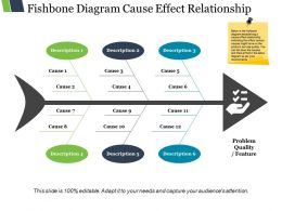 Fishbone Diagram Cause Effect Relationship Ppt Slide